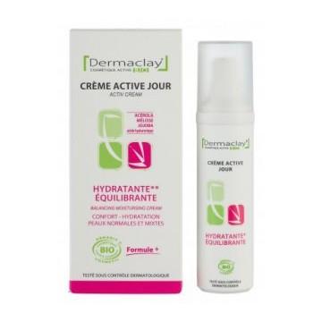 Crème Active Jour Hydratante-Equilibrante bio - Dermaclay