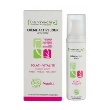 Crème Active Jour Eclat Vitalité - BIO - Dermaclay