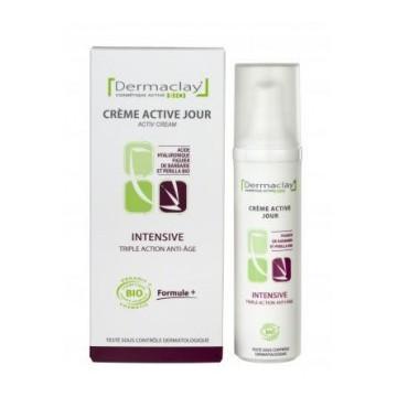Crème Active Jour Intensive - Triple action ANTI-AGE - BIO - Dermaclay
