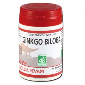 Ginkgo Biloba Bio - 60 gélules - Tradition du Soleil Levant
