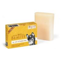 Savon au lait d'anesse au miel sans parfum bio - 100 g - Boutique Nature