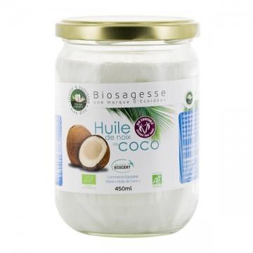 Huile de Noix de coco BIO - pot de 500 ml - Ecoidées