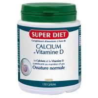 Calcium + vitamine D - 150 gélules - Super Diet