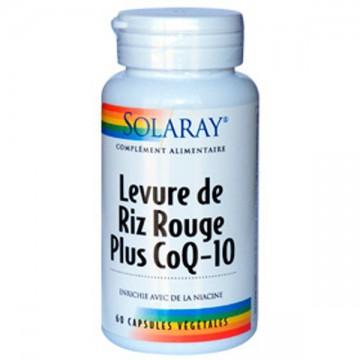Levure de riz rouge + Co Q10 - 60 gélules - Solaray