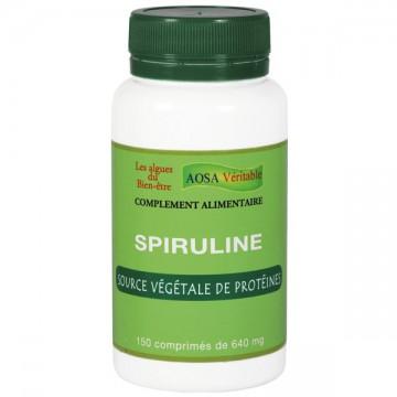 Spiruline, 150 comprimés - Aosa véritable