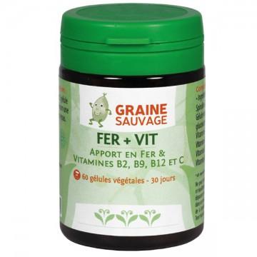 Fer + Vit, 60 gélules - Graine Sauvage