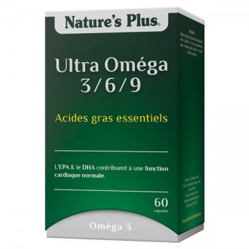 Ultra Omega 3/6/9 - Nature's Plus - 60 capsules