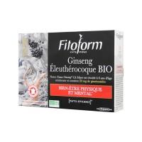 Ginseng Panax + Eleuthérocoque bio - 20 ampoules de 10 ml - Fitoform