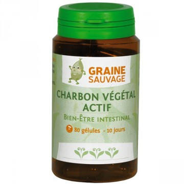 Charbon Végétal Actif - Graine Sauvage - 80 gélules