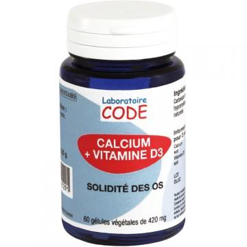 Calcium + Vit D3 - 60 géls - Laboratoire Code