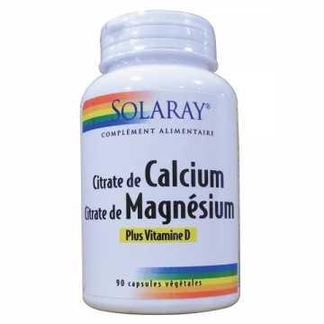 Calcium, Magnésium, Vitamine D - 90 Capsules - Solaray