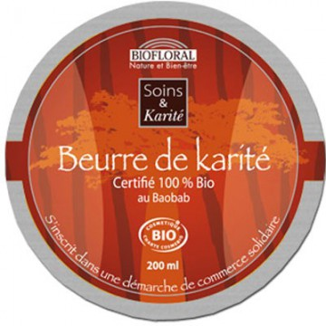Beurre de Karité Baobab BIO - Biofloral - 200 ml