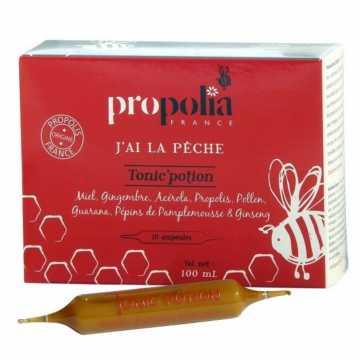 Tonic'Potion, 10 ampoules de 10 ml - Propolis, Miel, Gingembre, Acérola et Pollen