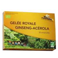 Gelée royale + Ginseng + Acerola bio -20 ampoules -Abeille forestiére