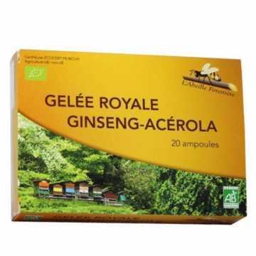 Gelée Royale + Ginseng + Acerola bio - 20 ampoules - abeille forestiére
