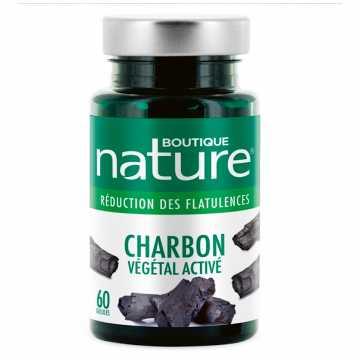 Charbon végétal activé - 60 gélules - Boutique nature