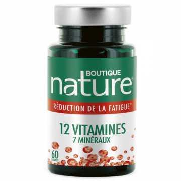 12 vitamines 7 minéraux - 60 gélules - Boutique Nature