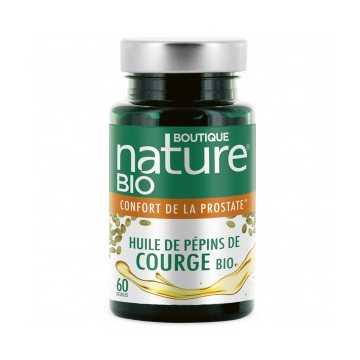 Huile de pépins de Courge BIO - 60 gélules - Boutique Nature