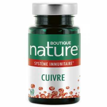 Cuivre - 60 gélules végétales - Boutique Nature