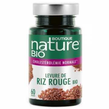 Levure de riz rouge bio - 60 gélules - Boutique Nature