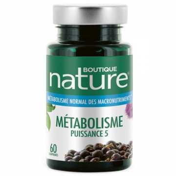 Métabolisme puissance 5 - 60 comprimés - Boutique Nature