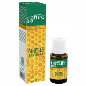 Gouttes propolis 99.8% BIO - 15 ml - Boutique Nature