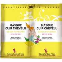 Masque Cuir Chevelu Détoxifiant Purifiant Bio - 2 X 8 g - Secrets des Fées .