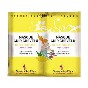 Masque Cuir Chevelu Détoxifiant Purifiant Bio - 2 X 8 g - Secrets des Fées -
