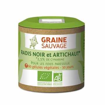 Radis noir et artichaut Bio - 60 gélules - Graine sauvage