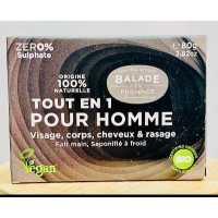 Tout en 1 Bio Solide pour Hommes - 80 g - Balade en Provence