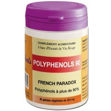 Polyphénols 90 - 30 géls - Vinophénols : Protection Cardio-Vasculaire