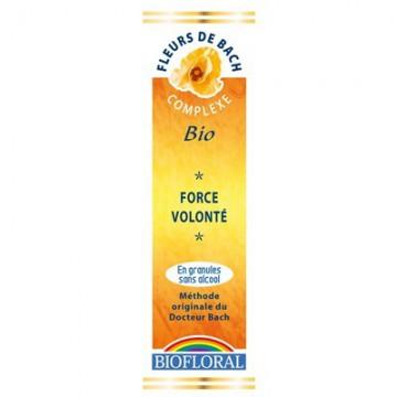Force, volonté - Fleurs de Bach bio granulés- Biofloral