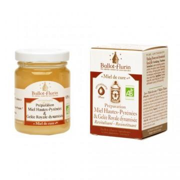 Miel de Cure® Bio - 125 g - préparation miel des Hautes Pyrénées & Gelée Royale - Ballot - Flurin